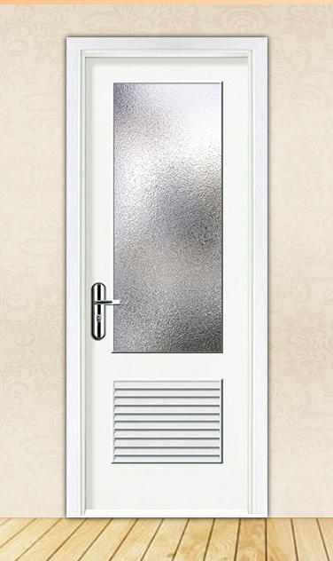 DS-FG02 water proof toilet louver door with frosted glass