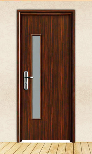 DS-FG07 stained glass panel door for bathroom and restroom