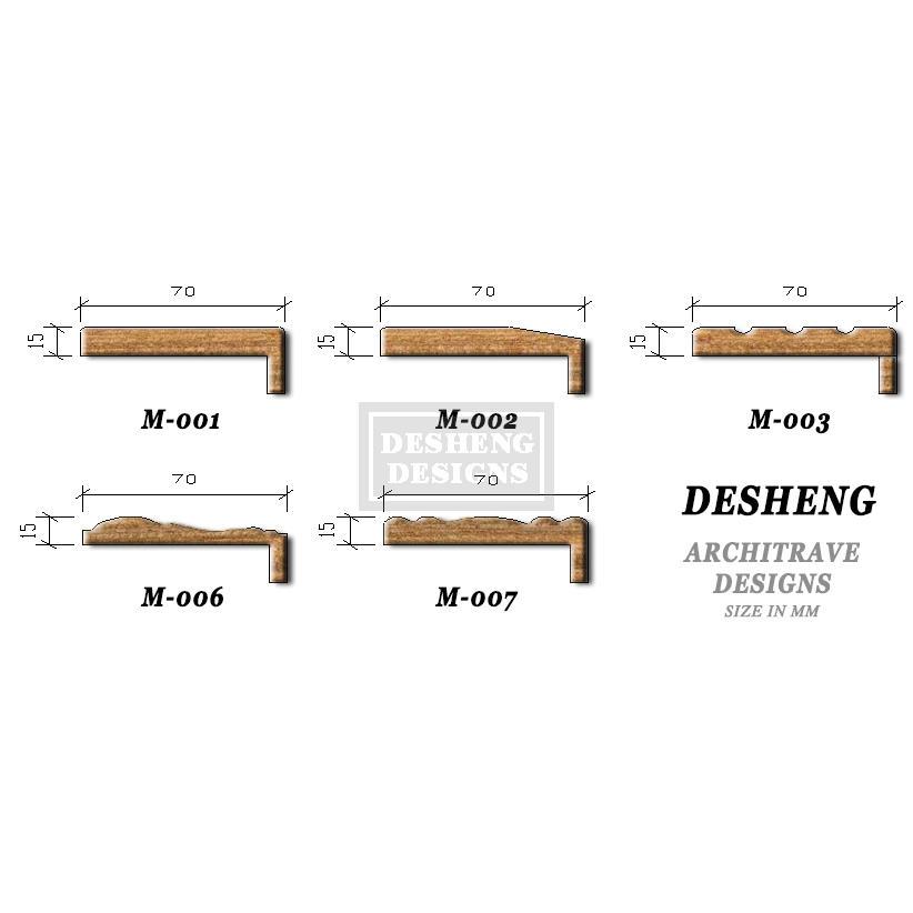 DS-FL05 Horizontal Wood grain flush doors