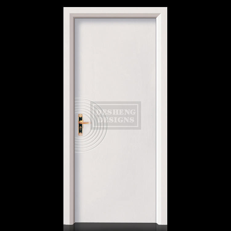 silver strock raindrop ripple design solid wood composite door DS-7606