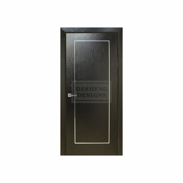 metal studed aluminum chrome inlaid modern design residence door