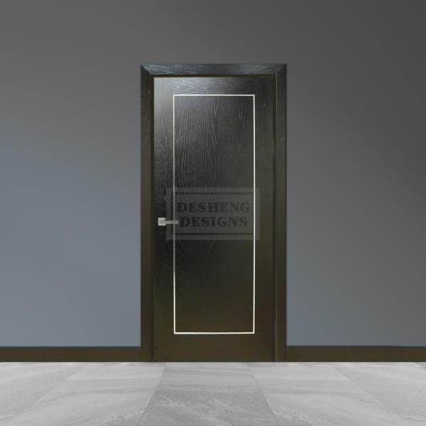 metal studed aluminum chrome inlaid modern design residence door