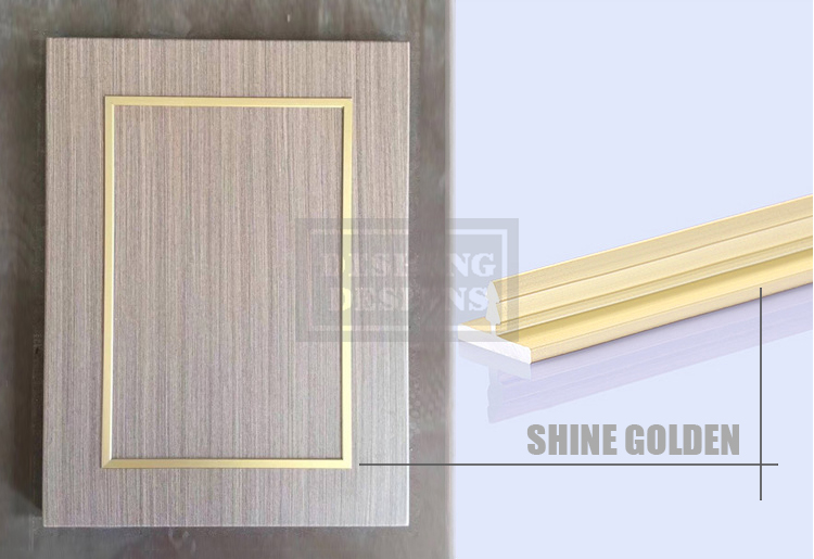 Desheng Wood Industry-Metal studed aluminum chrome inlaid modern design residence door-2