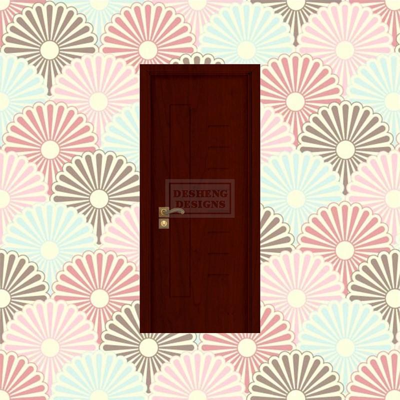 Desheng Wood Industry-Select And Uniform Scale Lines Design Pvc Door Ds-v29 | Pvc Door-2