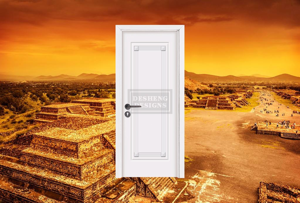 Desheng Wood Industry-Egyptian Pyramid Statuary Design Durable Painting Door Made In China-desheng