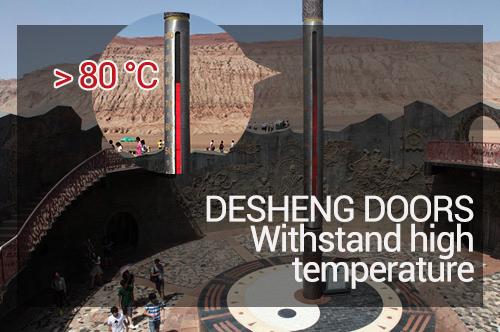 Desheng Wood Industry-Kerf Cut Rope Ladder Design Red Walnut Door Ds-7631 Manufacture