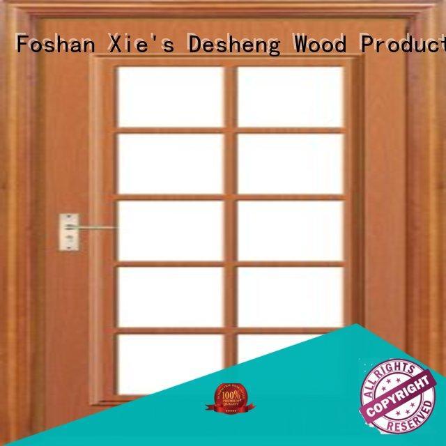 iron wooden door with glass panel customization for villa
