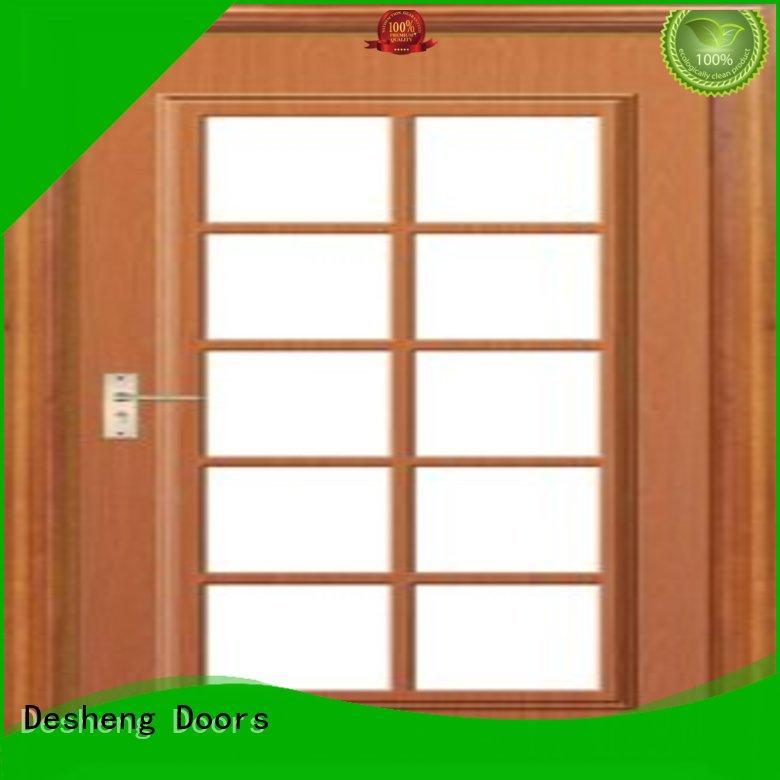 Desheng Doors tatami solid wood door with glass manufacturer for hotel