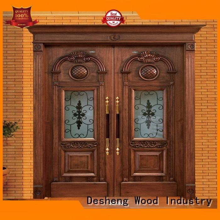 wood entry doors with glass wholesale for hotel