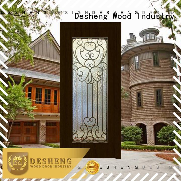 Desheng Wood Industry panels metal door manufacturers high quality for farmland