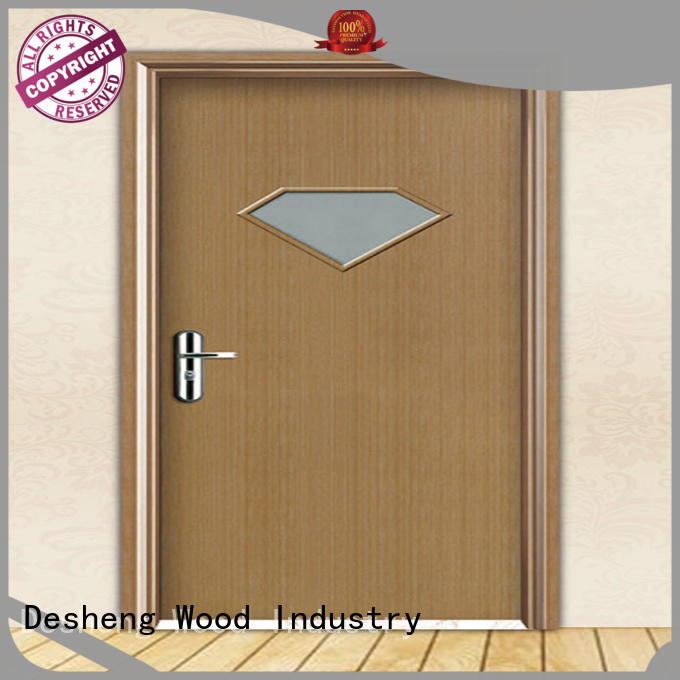 Desheng Wood Industry tempered hdf door skin office door for bathroom