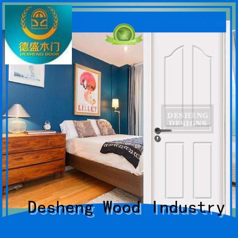 Desheng Wood Industry composite pvc sliding door with fir wood jamb for school