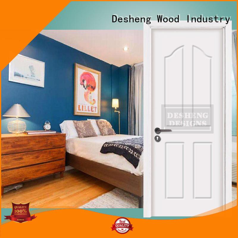 Desheng Wood Industry pvc interior doors with fir wood jamb for hospital