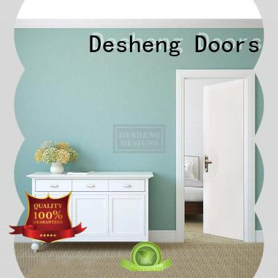 Desheng Doors wood veneered doors residence door for sale