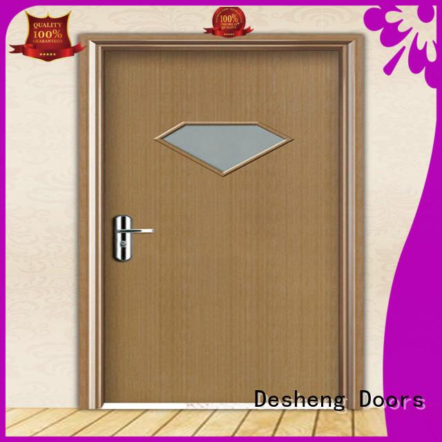 Desheng Doors studed hdf door skin residence door for bathroom