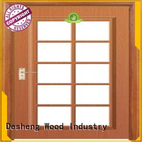 polished solid wood door with glassonline for sale