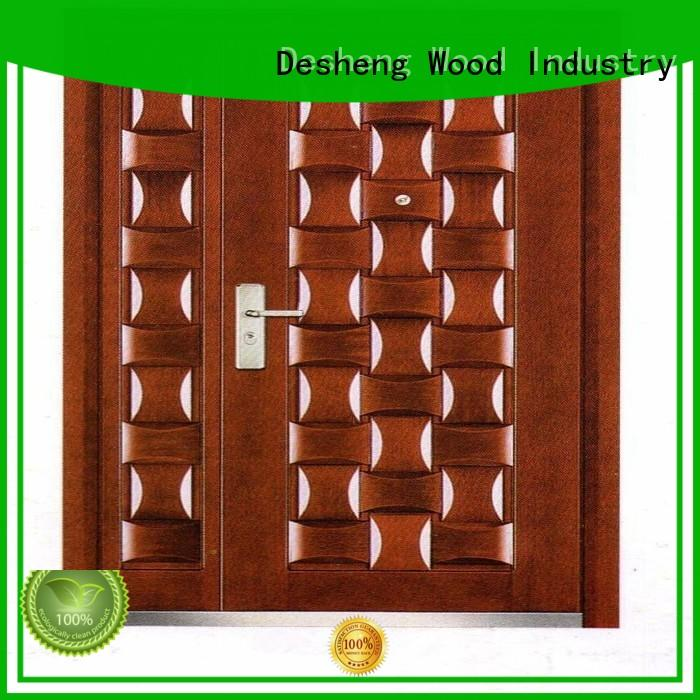 Desheng Wood Industry metal doors for sale with peephole for villa