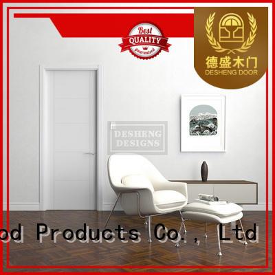 Desheng Doors sapele solid wood door price online for hotel