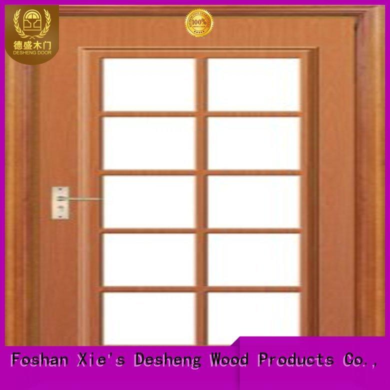iron wooden door with glass panel online for sale