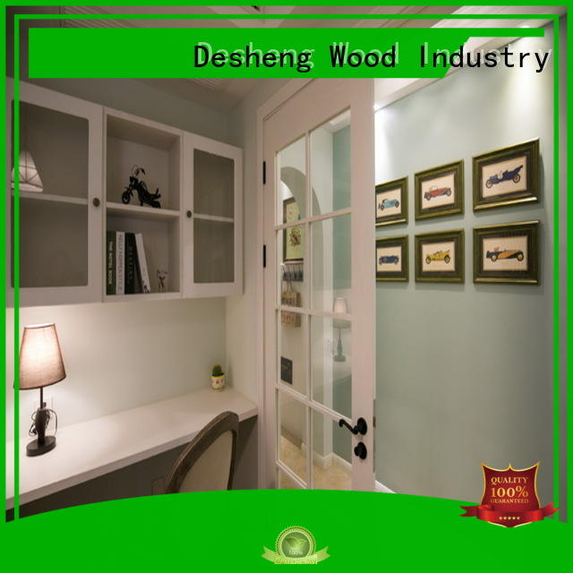 Desheng Wood Industry tempered hardboard door residence door for restroom
