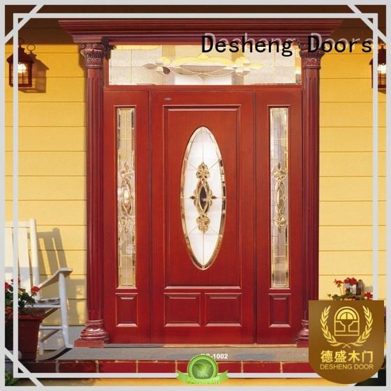 tatami solid wood door with glass customization for hotel