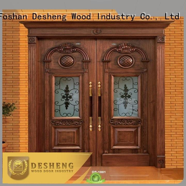 japanese wooden door with glass panel supplier for sale