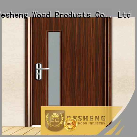 Desheng Doors plain hardboard door residence door for bathroom