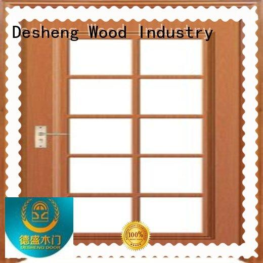 Desheng Wood Industry japanese solid wood door with glass supplier for sale