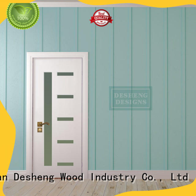 solid wood pvc door design with fir wood jamb for office