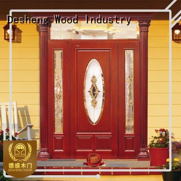 Desheng Wood Industry stlylish wood entry doors with glass supplier for villa