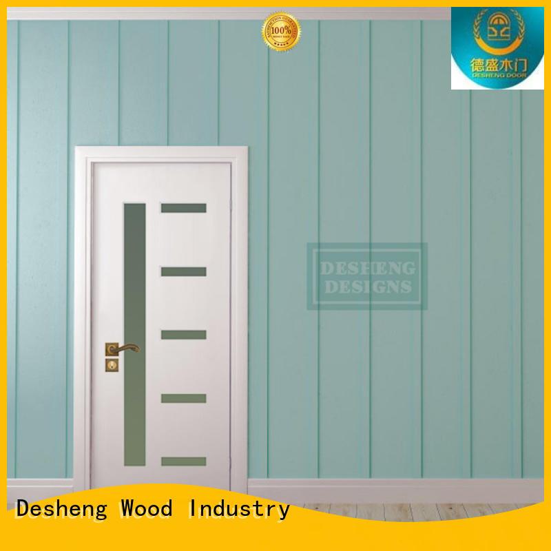 Desheng Wood Industry pvc sliding door with fir wood jamb for hotel