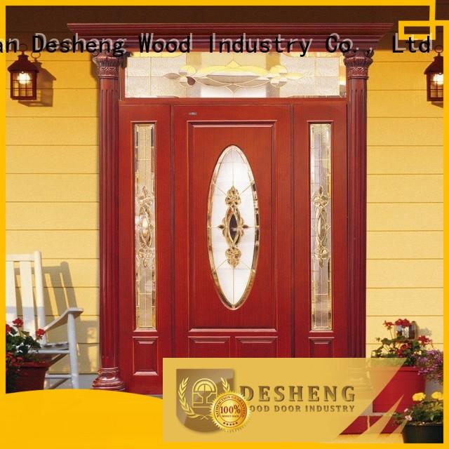Desheng Wood Industry high quality wooden internal doors with glass wholesale for sale