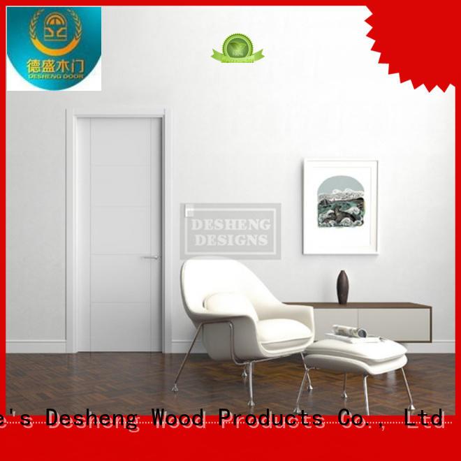 Desheng Doors solid wood entry doors manufacturer for hotel