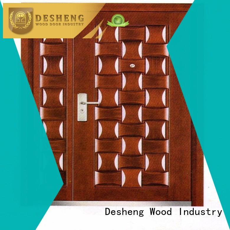 Desheng Wood Industry metal door manufacturers with peephole for swimming pool