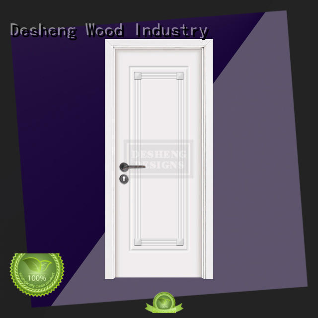 statuary solid wood front doors surface for high temperature area Desheng Wood Industry