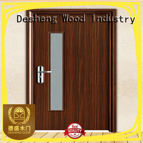 Desheng Wood Industry stained hdf door skin toilet louver door for bathroom